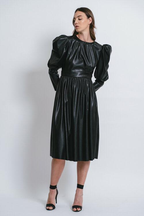 Eco-leather dress