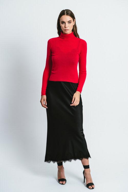100% Cashmere high neck Sweater