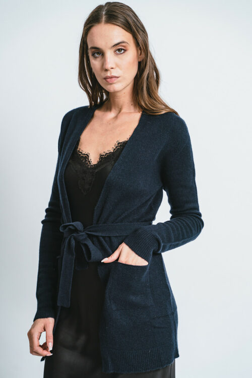 100% Cashmere Cardigan with belt