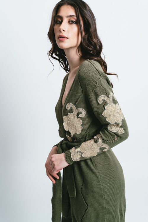 Cardigan with Embroideries