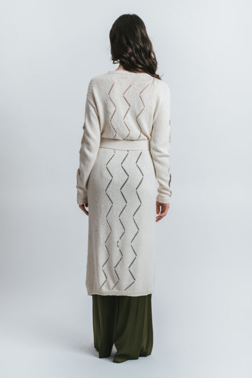Long Cardigan with ebroideries Diletta