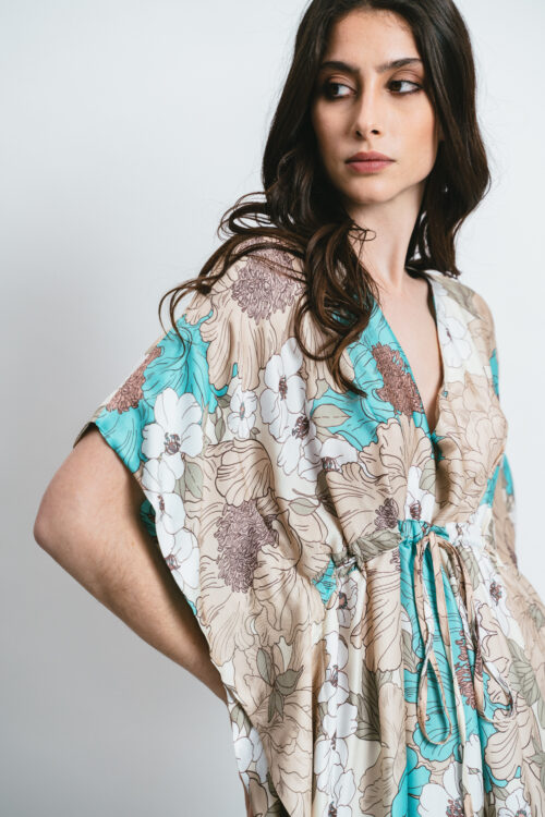 Long Kaftan with pattern and slits Julie
