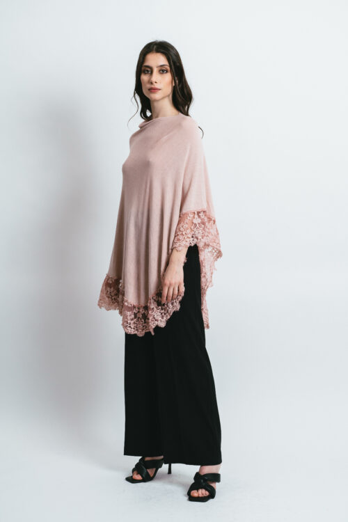 Poncho with Lace Clara