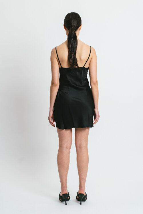 Short slip dress with lace Aurora