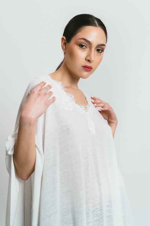 Kaftano with lace and slits Anita