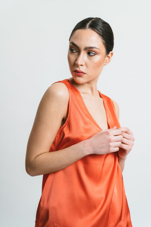 Wide shoulder top with lace Beatrice