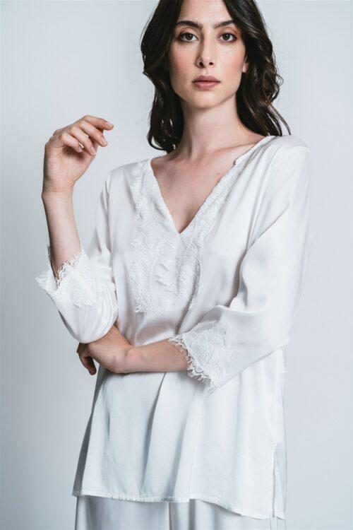 Camicia con pizzo Iris