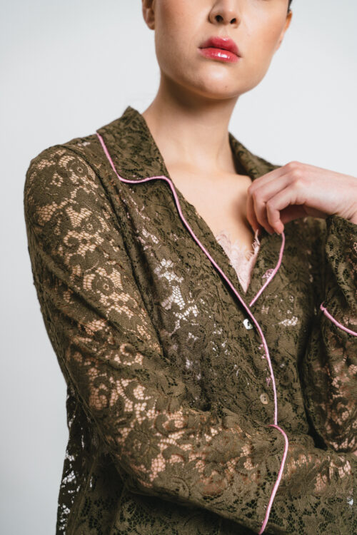 Military Green Lace Set