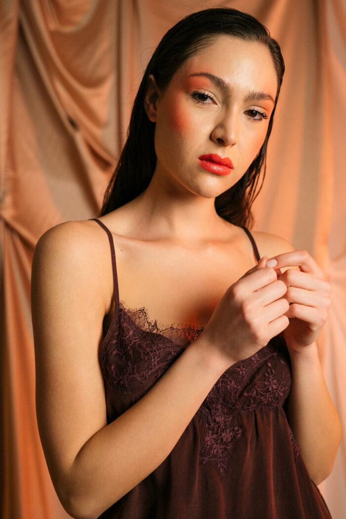 Restyled silk Slip Dress