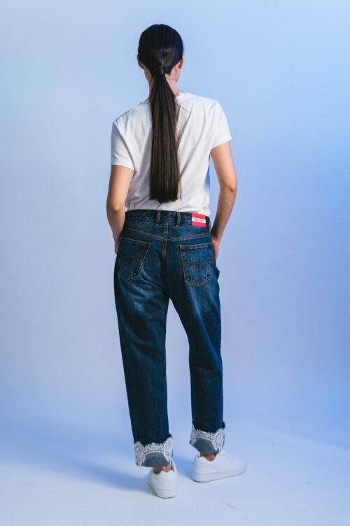 Boyfriend pants with lace Gina