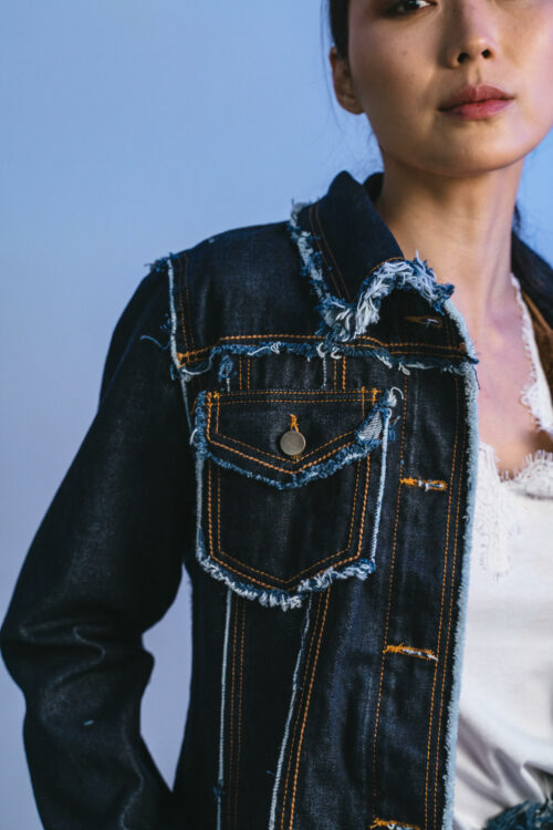 Jacket with lace and faux fur Frida