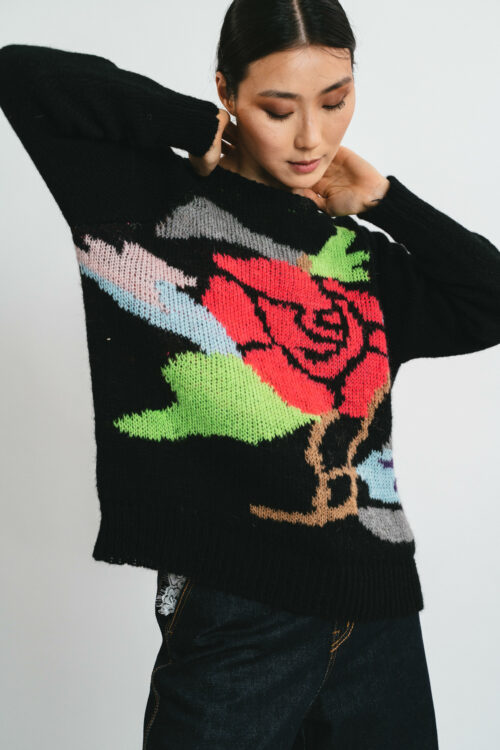 Sweater with Inlay