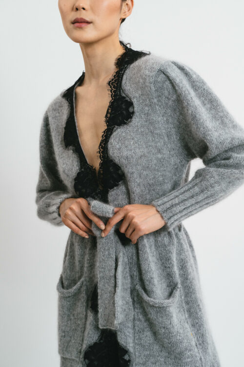 Cardigan with lace