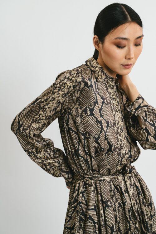 Python printed short Dress