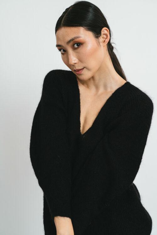 Top with V-neckline