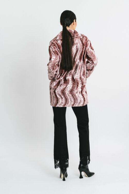 Short astrakhan coat