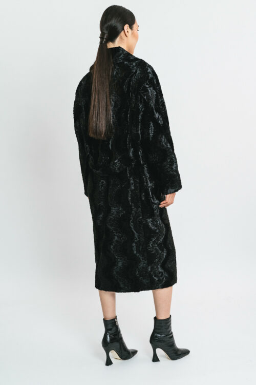Long astrakhan coat